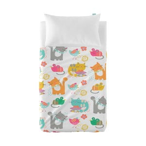 Prikrývka a obliečka na vankúš Moshi Moshi Cat&Mouse, 100x135cm