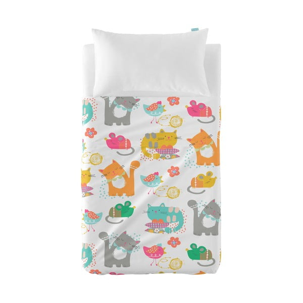 Prikrývka a obliečka na vankúš Moshi Moshi Cat&Mouse, 120x180cm