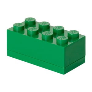 Zelený úložný box LEGO® Mini Box Green Lungo