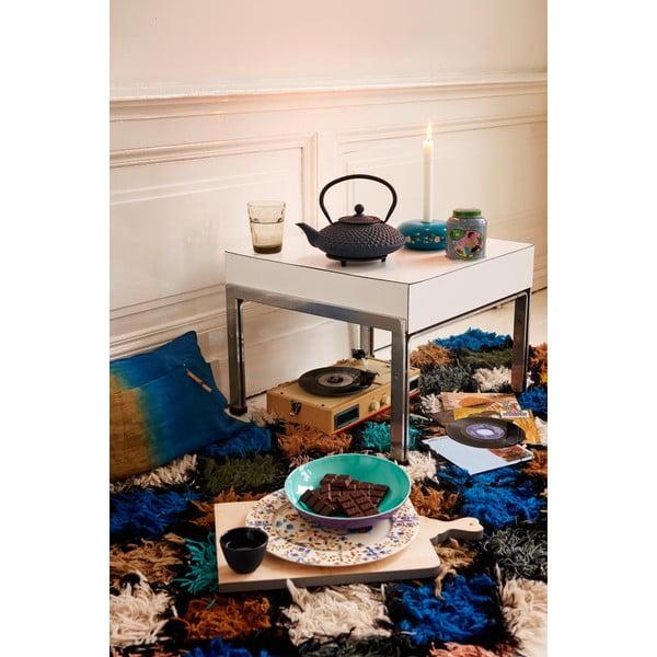 Modrá liatinová kanvica so sitkom na sypaný čaj Bredemeijer Xilin, 1,25 l