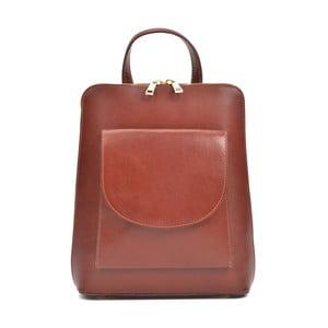 Červený dámský kožený batoh Anna Luchini Mirago