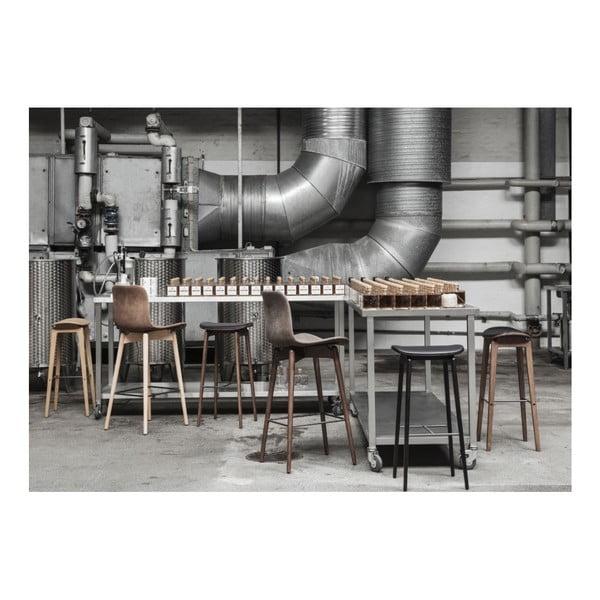 Čierna barová stolička z dubového dreva NORR11 NY11,75x35cm