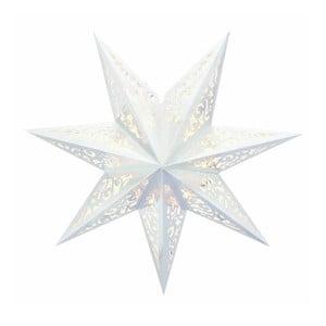 Svietiaca hviezda Vallby White, 45 cm