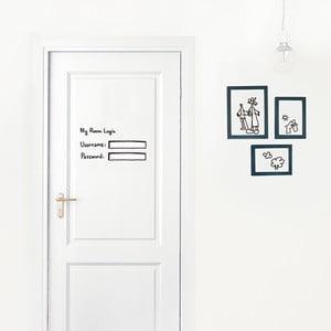 Dekoratívna samolepka na stenu My Room Login