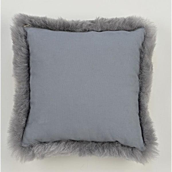 Sivý kožušinový vankúš s krátkym chlpom Grey, 35x35cm