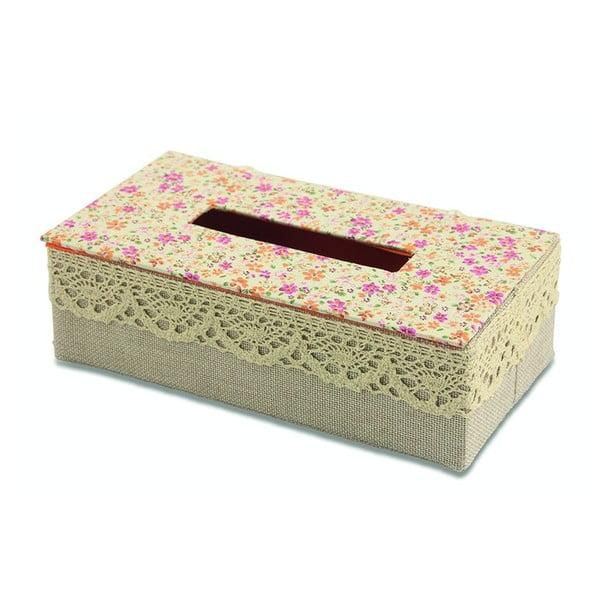 Krabička na vreckovky Flora Arancia