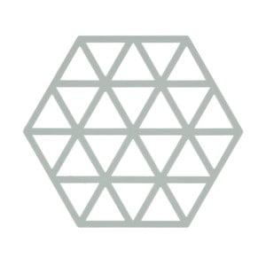 Svetlosivá silikónová podložka pod horúce nádoby Zone Triangles