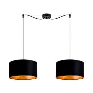 Závesné dvojramenné svietidlo v čierno-zlatej farbe Sotto Luce Mika, ⌀ 36 cm
