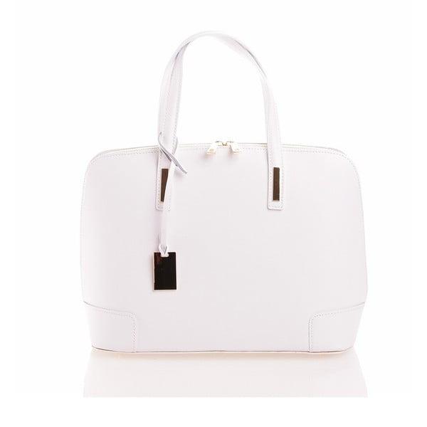 Kožená kabelka Olga, biela