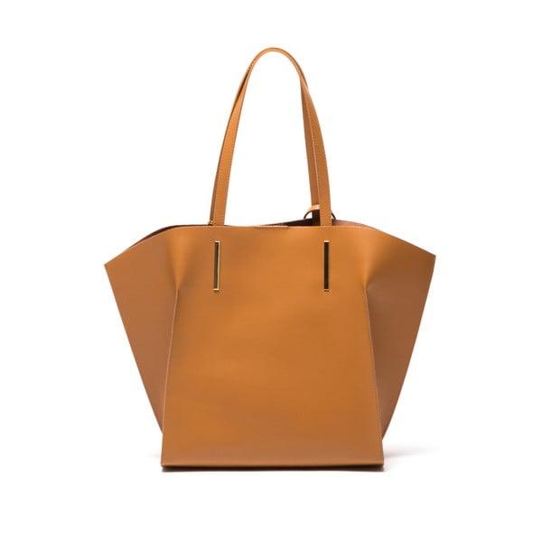 Hnedá kožená kabelka Mangotti Kalina
