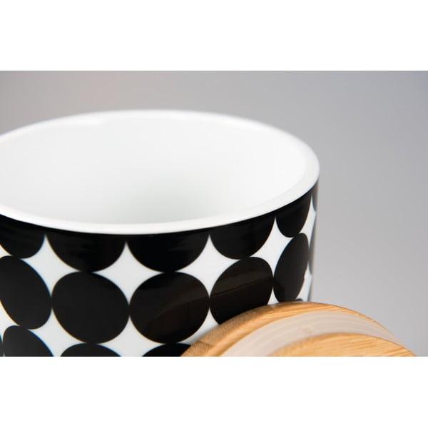 Porcelánová dóza s dreveným vrchnákom Scoop