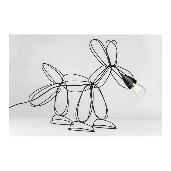 Čierna stojacia lampa Kare Design Dog