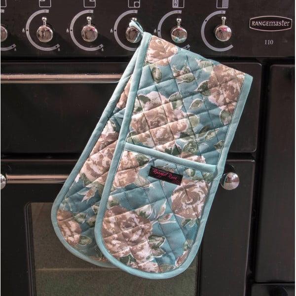 Modrá dvojitá kuchynská chňapka Ragged Rose Bertha