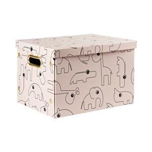Ružový úložný box Done by Deer Contour