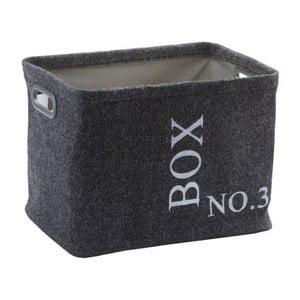 Úložný košík Evora Dark Grey, 32x26 cm