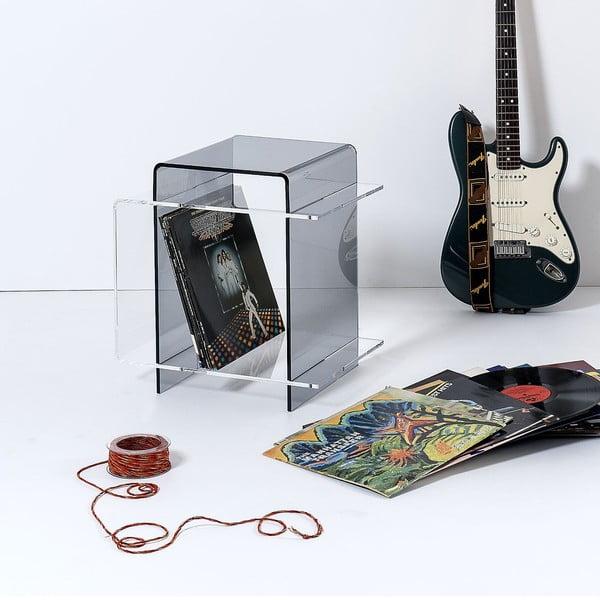 Odkládací stolík 70's Transparent&Fume