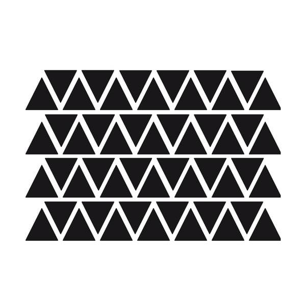 Sada 50 čiernych samolepiek Ambiance Triangles