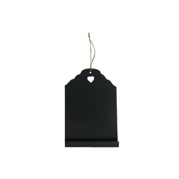 Čierna závesná ceduľka na písanie kriedou Antic Line Blackboard