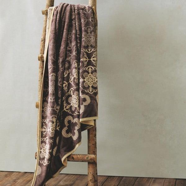 Deka Brown Flowers, 150x200 cm