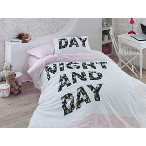 Obliečky s plachtou Days Pink, 160x220 cm