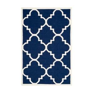 Modrý vlnený koberec Safavieh Alameda, 152 x 243 cm