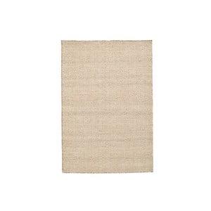 Vlnený koberec Flat, 155x215 cm, smotanový