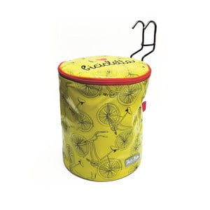 Guľatá taška na bicykel I ♥ Bicicleta, žltá