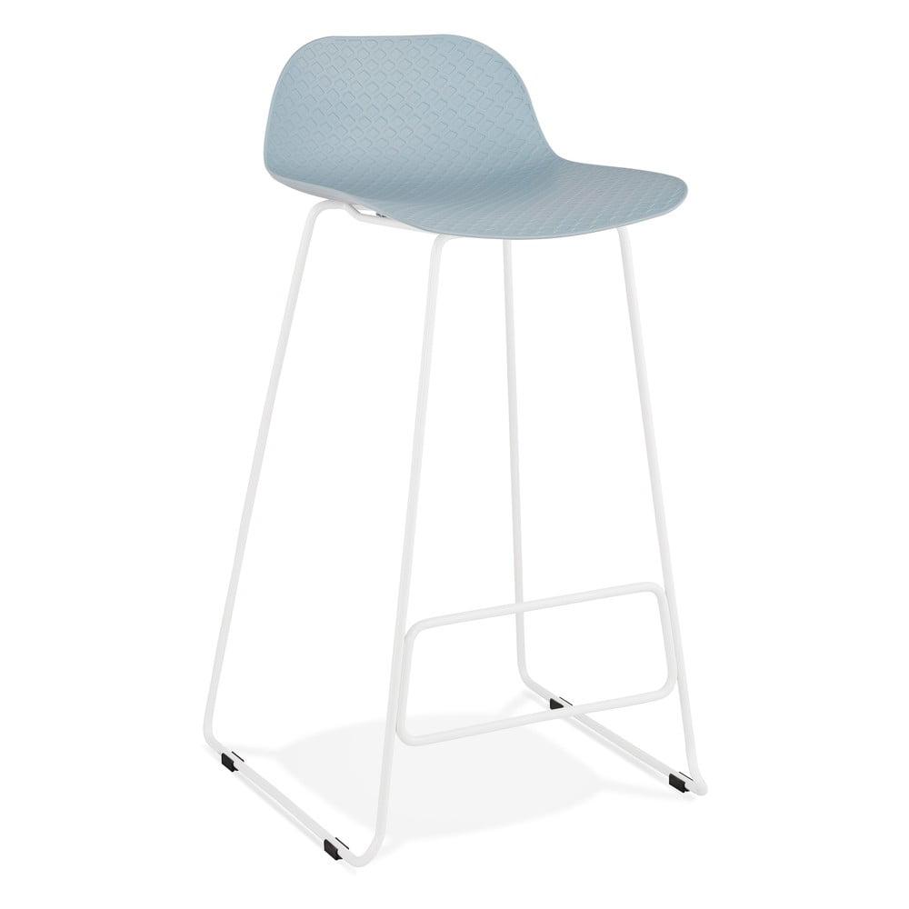 Svetlomodrá barová stolička Kokoon Slade, výška sedu 76 cm