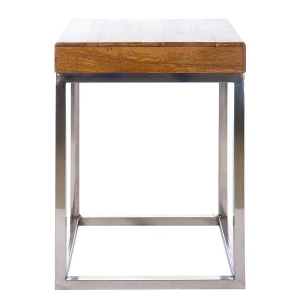 Odkladací stolík Cross Natural, 45x45x60 cm
