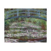 Obraz Claude Monet - The Japanese Footbridge, 50 × 40 cm