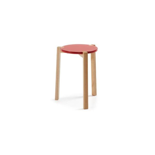 Červený odkladací stolík La Forma Elroy