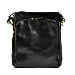 Čierna kožená kabelka Renata Corsi Bahnema