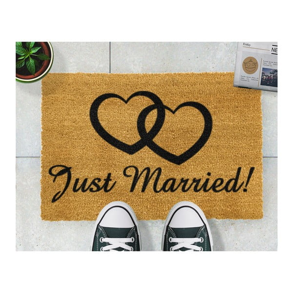 Rohožka Artsy Doormats Just Married, 40 x 60 cm