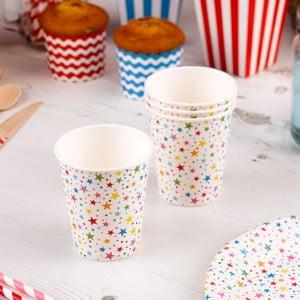 Sada 8 papierových pohárikov Neviti Carnival Stars