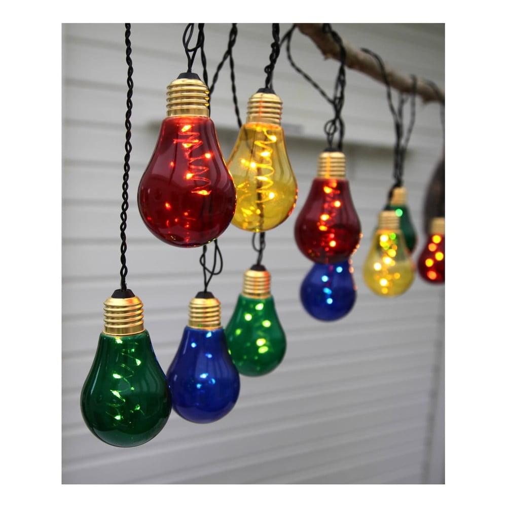 Farebná svetelná LED reťaz Star Trading New Glow, 10 svetielok