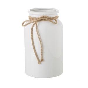 Biela keramická váza Unimasa Bowtie, ⌀ 15 cm