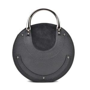Čierne kožené listové kabelky Isabella Rhea Tarra