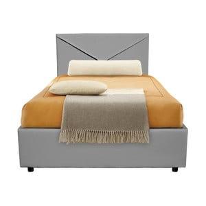 Sivá jednolôžková posteľ s úložným priestorom 13Casa Mina, 95 x 205 cm