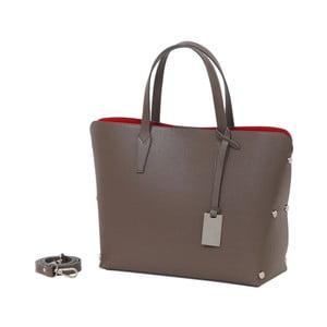 Béžová kabelka z pravé kůže Andrea Cardone Dettalgio