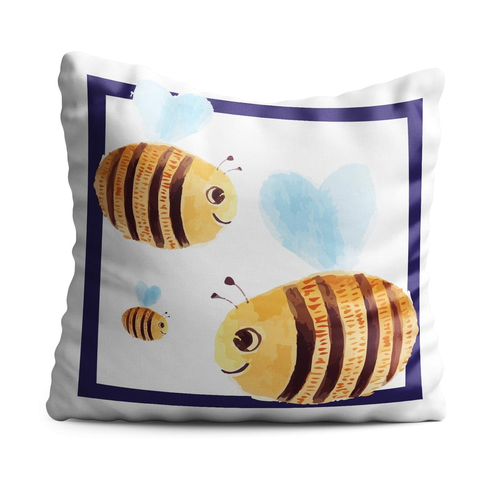 Detský vankúš OYO Kids Bees, 40 x 40 cm