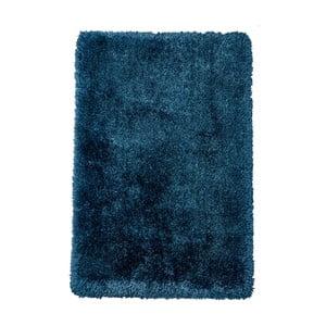 Modrý ručne tuftovaný koberec Think Rugs Montana Puro Steel Blue, 80×150 cm
