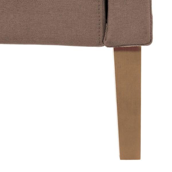 Svetlohnedá posteľ VIVONITA Windsor 180x200cm, prírodné nohy