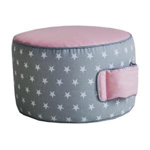 Ružovo-sivý sedací puf Vigvam Design Stars
