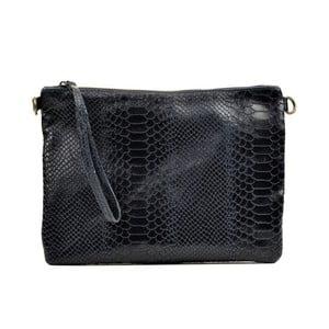 Tmavomodrá kožená kabelka Luisa Vannino Dahlia