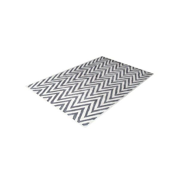 Vlnený koberec Ziggy Ivory/Silver, 122x183cm