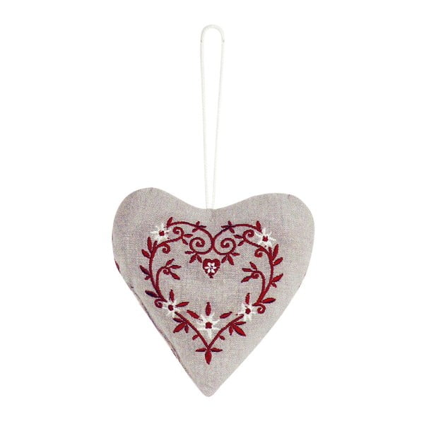 Závesná dekorácia Antic Line Textil Red Heart