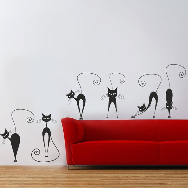 Samolepka na stenu Mačky, 70x50 cm