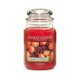 Vonná sviečka Yankee Candle Mandarínky s brusnicami, doba horenia 110 - 150 hodín