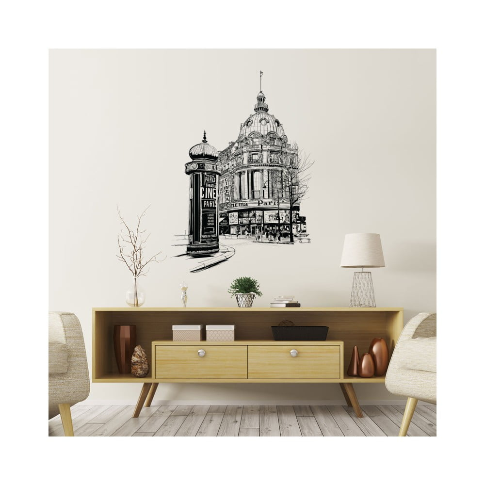 Nástenná samolepka Ambiance Wall Decal Paris the Racecourse, 55 × 40 cm