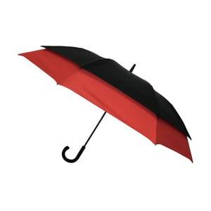 Vetruodolný čierno-červený dáždnik pre dve osoby Ambiance Zarámované, ⌀ 128 cm